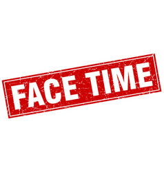 Face time square stamp vector