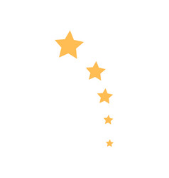 five stars icon design template isolated vector image