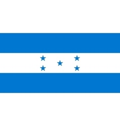 Flag of Honduras in correct proportions and colors vector image