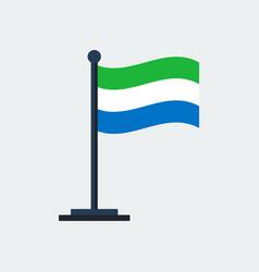 flag of sierra-leoneflag stand vector image