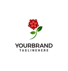 flower rose logo design concept template vector image