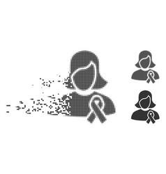 Fractured pixel halftone solidarity tie icon vector