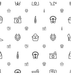 Glamour icons pattern seamless white background vector