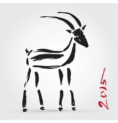 Goat 2015 New year Symbol vector