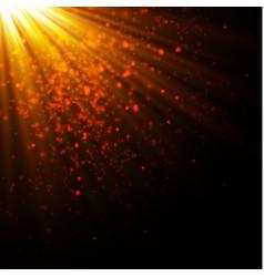 Gold glow particles bokeh glitter effect burst vector