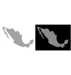 Halftone mexico map vector