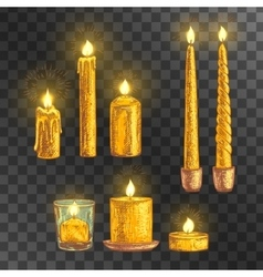 Hand drawn set of candles vector image