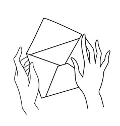 hand holding envelope new email mail delivery vector image