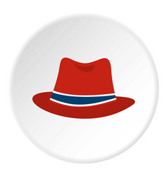 hat icon circle vector image