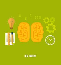 Headwork concept vector
