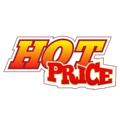 Hot price comics icon vector image