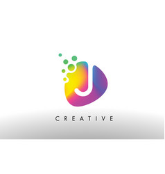 i colorful logo design shape purple abstract vector image