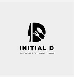 Initial d food equipment simple logo template vector