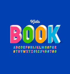 Kids book style font design alphabet letters vector