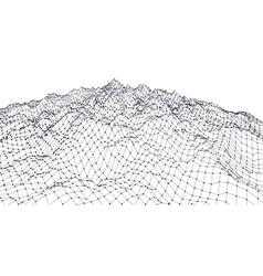 Landscape geometry vector image
