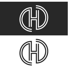 letter h monogram logo creative smooth parallel vector image