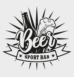 logo for beer bar on white background vector image