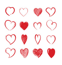 love hearts shapes decorative valentines day vector image