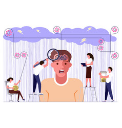 mental health problems concept vector image