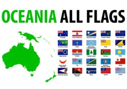 Oceania all flags vector image
