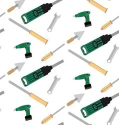 Pattern with tools for construction vector image