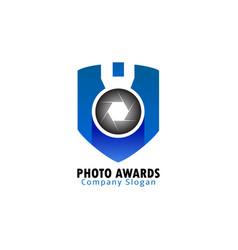 photo awards logo vector image