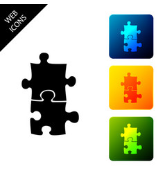 Piece puzzle icon isolated business marketing vector