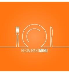 Plate fork knife design background vector