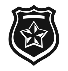 police emblem icon simple style vector image