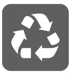Recycle Flat Squared Icon vector
