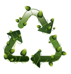 recycling symbol shape with creepers vector image