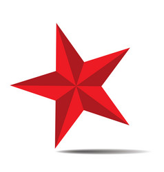 red star 04 vector image
