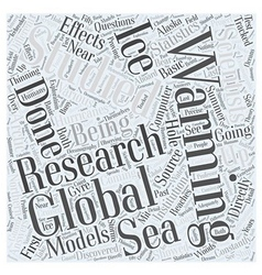 Research on Global Warming Word Cloud Concept vector