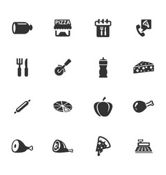 Restaurant icons set vector