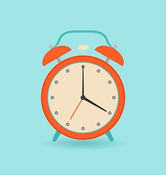 Retro alarm clock Flat style vector