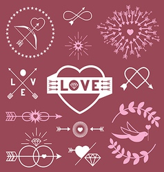 Romantic designs vector