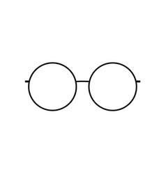 round glasses icon silhouette glasses vector image