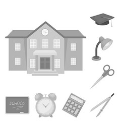 school and education monochrome icons in set vector image