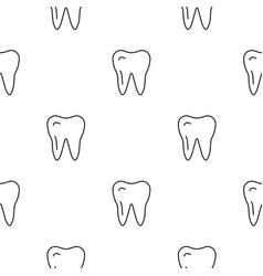 Seamless pattern teeth vector