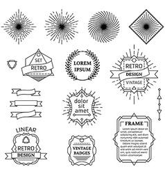 set of linear design elements vector image