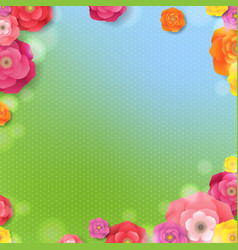 spring banner with spring flowers vector image