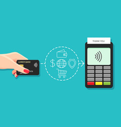 store nfc payments machine vector image