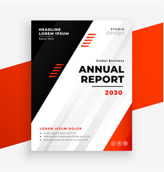 stylish annual report business brochure in red vector image