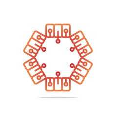 symbol connecting icon element vector image