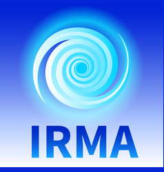 Symbol of hurricane irma vector