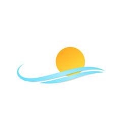 symbol sun wave vector image