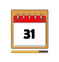 The Thirty-one days on the calendar vector
