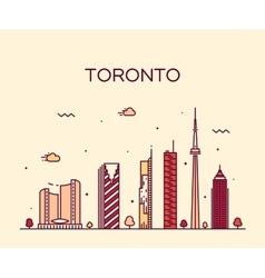 Toronto skyline trendy linear vector image