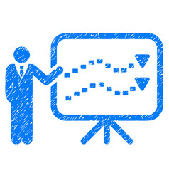 Trends presentation grunge icon vector