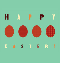typographical easter greeting card vector image